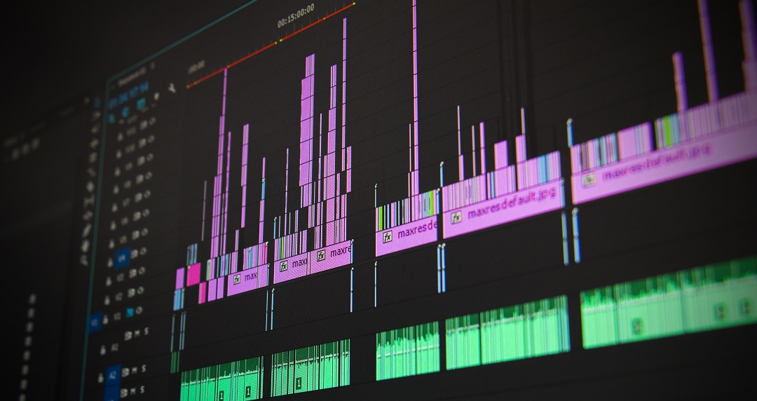 A visualisation of some audio data on charts for analysis